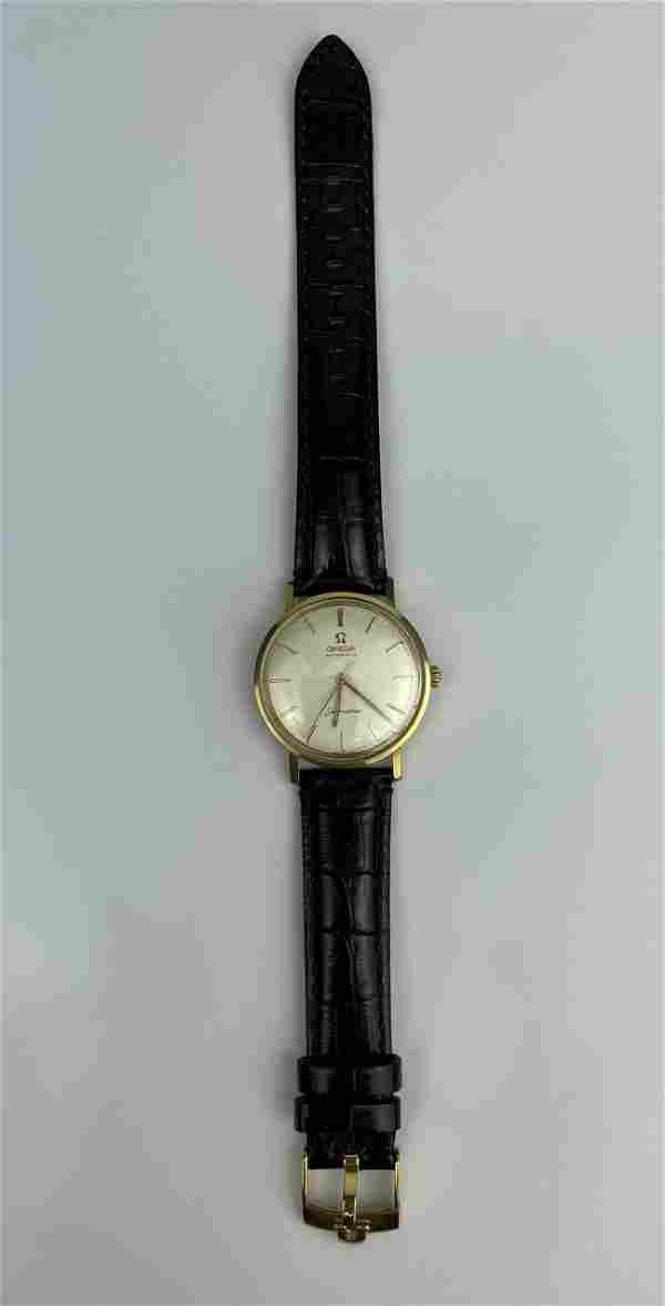 A Vintage 18k Gold Omega Seamaster Automatic Wrist