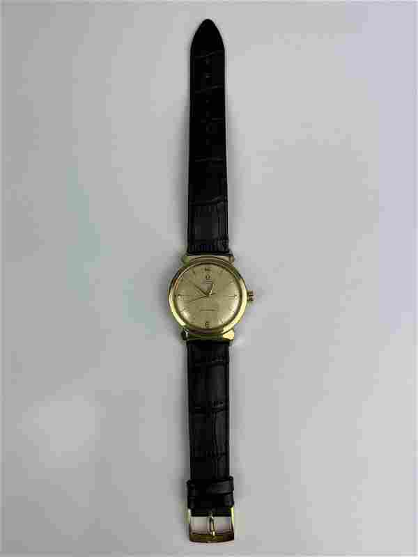 A Vintage 14K Gold Capped Omega Automatic Rare Hooded