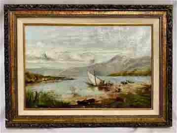 Vintage Oil on Canvas Vintage Oil on Canvas Beautiul