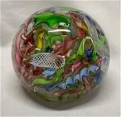 Murano Italy Art Glass Paperweight
