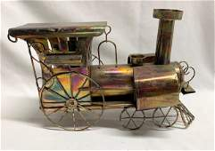 Copper Look Music Box Train