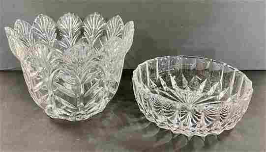 2 Crystal Bowls