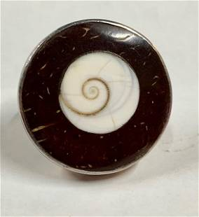 Sterling Coconut Shell Ring
