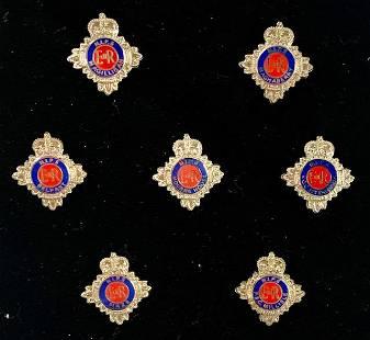7 British Police Badge Collectors Pins