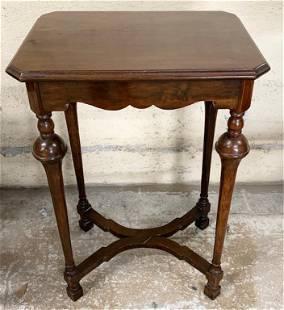 Vintage Walnut Parlor Table