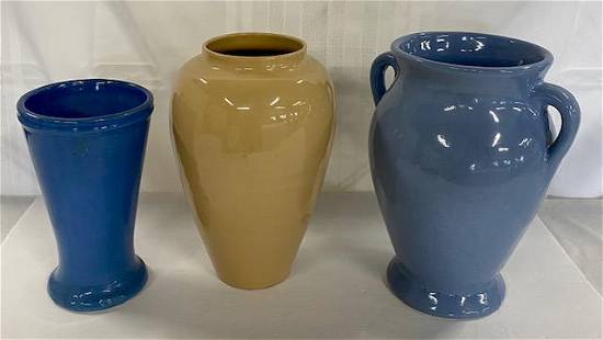 3 Pottery Vases