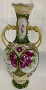 Repaired Antique Painted Vase