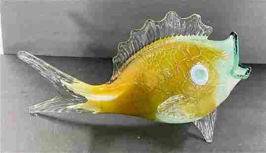 Large Art Glass Fish