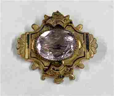 Vintage Amethyst Brooch