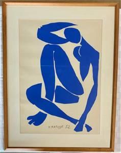 Henry Matisse Serigraph Nu Bleu IV