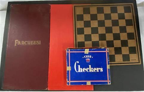 Assorted Vintage Game Boards