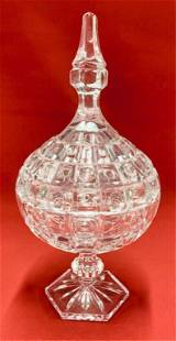 Crystal Stemmed Covered Candy Dish