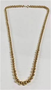 "14K Gold 17"" Necklace 4.4g"