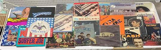 21 Vinyl Records - Beatles and Assorted Artists