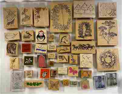 42 Assorted Rubber Stamps