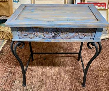1 Drawer Painted Side Table