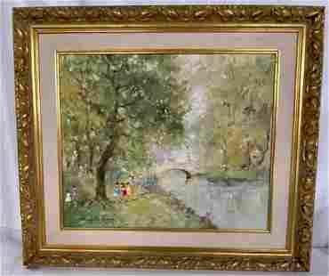 Signed Oil on Canvas Gold Frame