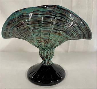 Venetian Glass Fan Vase