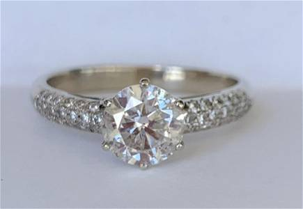 18k Diamond Engagement Ring with Appraisal