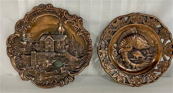 2 Brass Wall Plaques