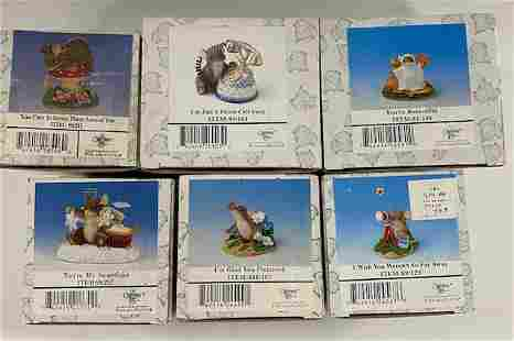 6 Fitz and Floyd Figurines in Boxes