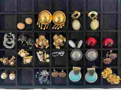 19 Pairs of Assorted Costume Earrings