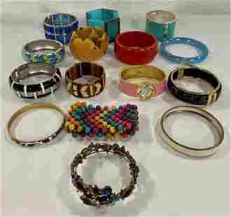 15 Assorted Costume Bangle Bracelets