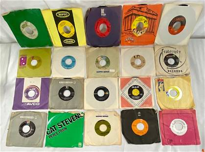 20 Vintage Used 45 rpm Records