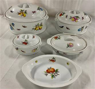 5 Piece Fruit Oven To Table Cookware