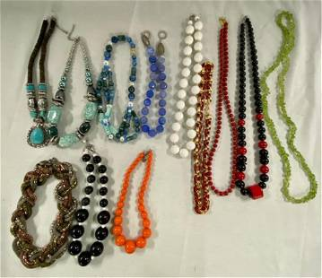 12 Assorted Costume Necklaces