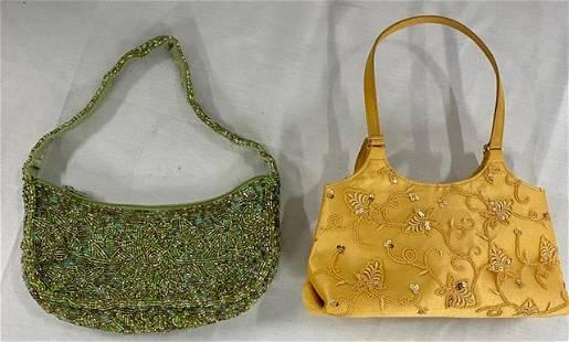 2 Vintage Valerie Stevens Beaded Bags