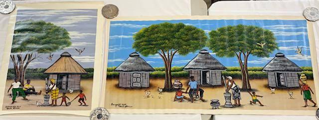 2 Acrylic Art on Canvas - South Africa