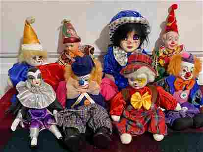 8 Assorted Clowns & Jesters