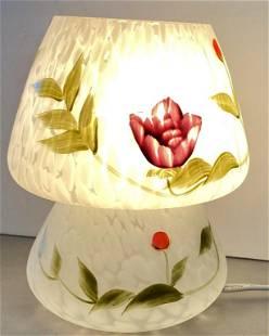 Hand Painted Art Glass Lamp