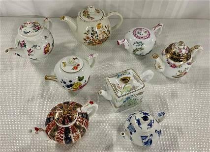 8 Assorted Teapots