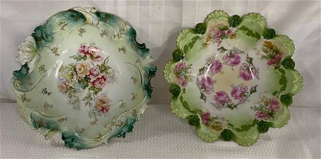 Pair of Hand Painted Bowls
