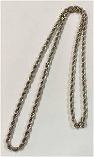 """Sterling 20"""" Rope Chain"""