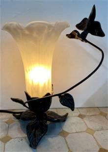 Hummingbird Light w/ Art Glass Shade