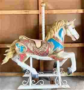 Full Size Hand Painted Resin Carousel Horse