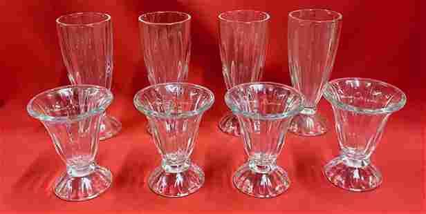 Vintage Milkshake & 4 Parfait Glasses