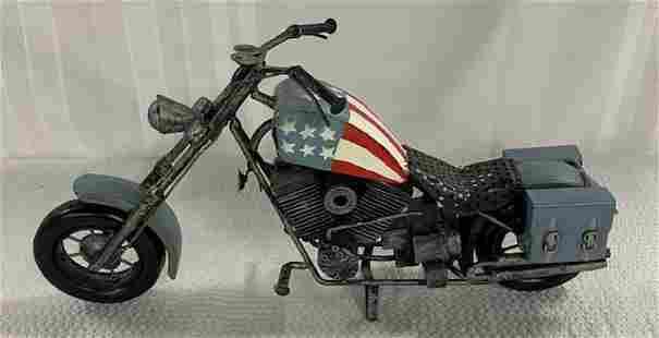 Patriotic Decorator Metal Motorcycle