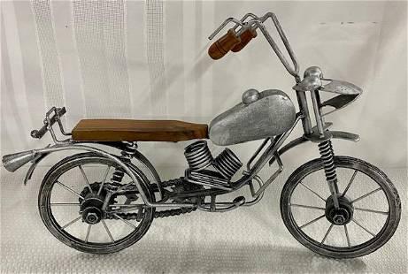 Metal/Wood Decorator Motorcycle