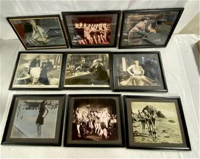 Collection of 9 Vintage Framed Photos