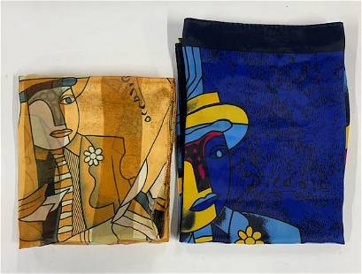 2 Picasso Silk Scarves
