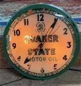 Quaker State Motor Oil Light Up Clock