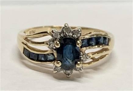 10K Sapphire Ring