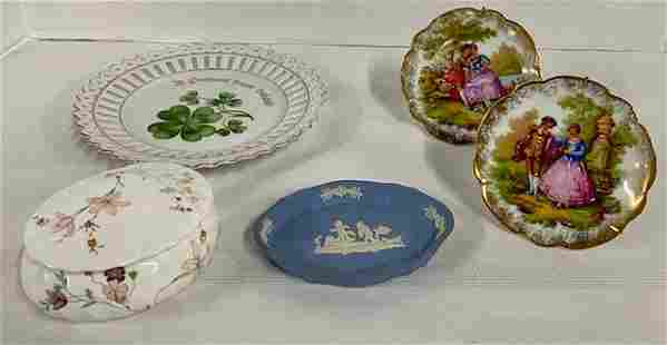 5 Pieces of Assorted Wedgwood/Bavaria/Limoges