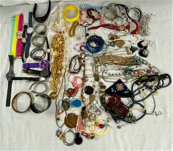 Assorted Costume Jewelry and Watches