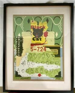 Black Cat Signs - Jane Barr-Nobles Stamp Art