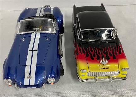 2 Model Cars - Cobra - Chevy Bel Air